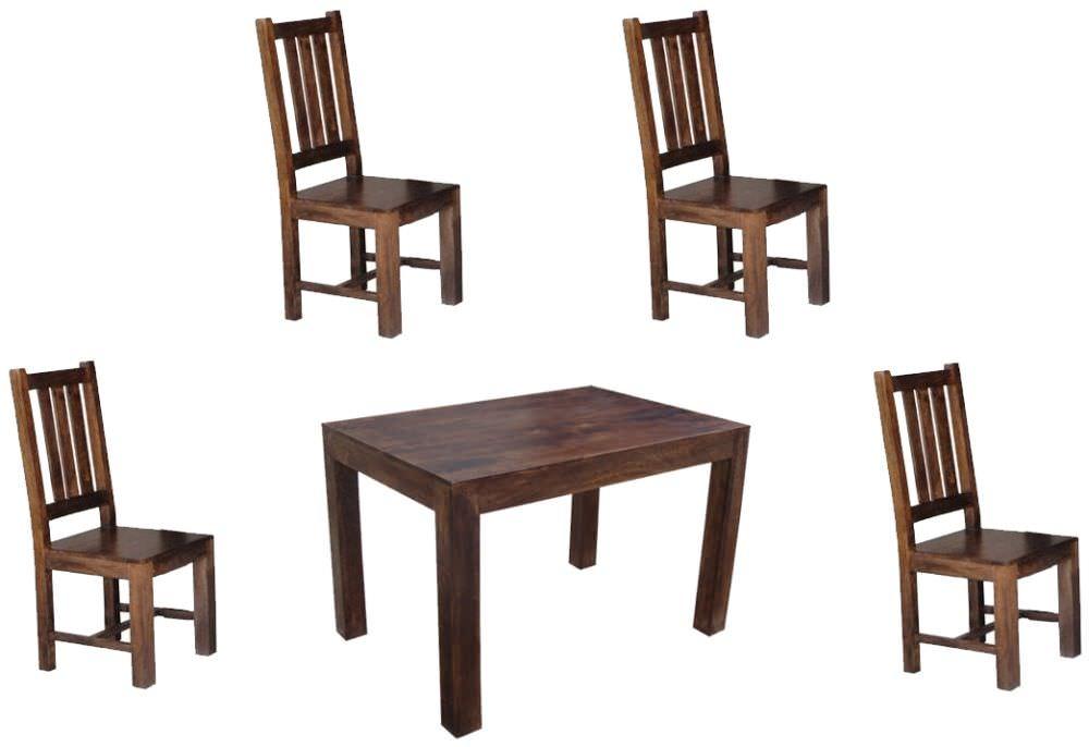 Jaipur Furniture Dakota Walnut Dining Set 120cm with 4