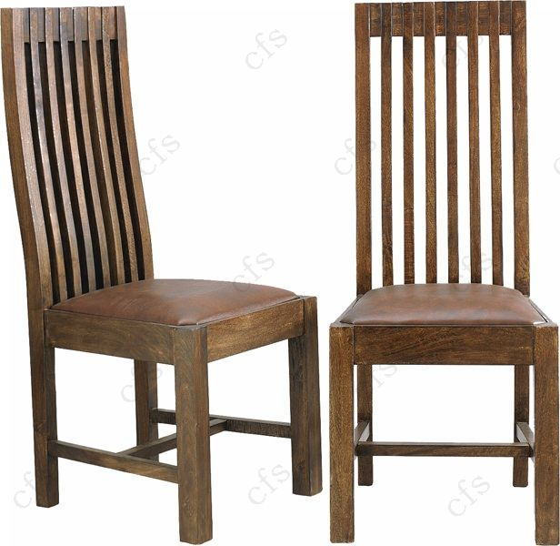 Walnut wood furniture white leather dining chairs leather for Long back dining chairs