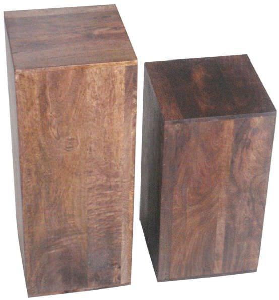 Jaipur Furniture Dakota Walnut Lamp Table - Set of 2