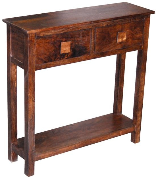 Jaipur Furniture Dakota Walnut Mini Console Table - 2 Drawers