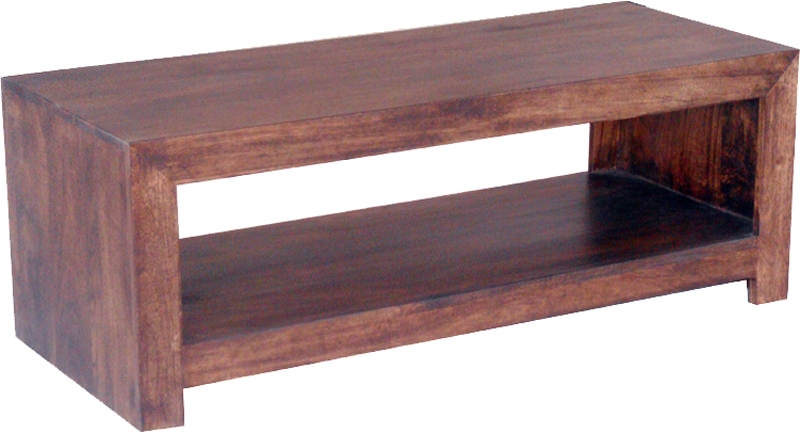 Jaipur Dakota Walnut Mango Wood Open Plazma TV Unit