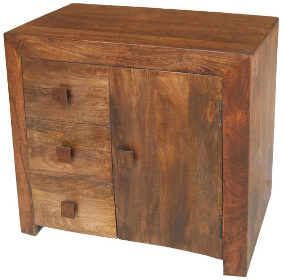 Jaipur Furniture Dakota Walnut Sideboard 1 Door 3 Drawers Jaipur Furniture