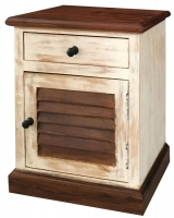Jaipur Diva Sheesham 1 Door 1 Drawer Bedside Cabinet