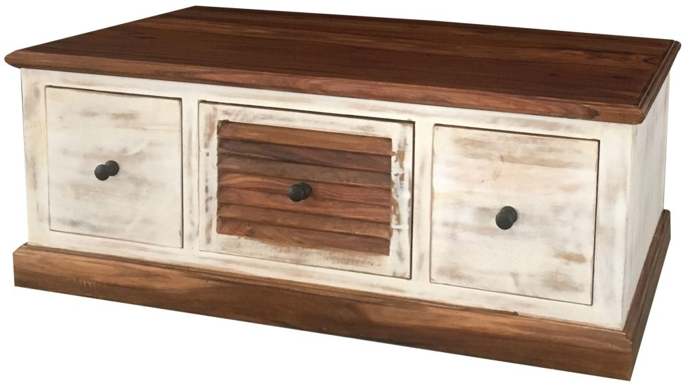 Jaipur Diva Sheesham 3 Drawer Storage Coffee Table