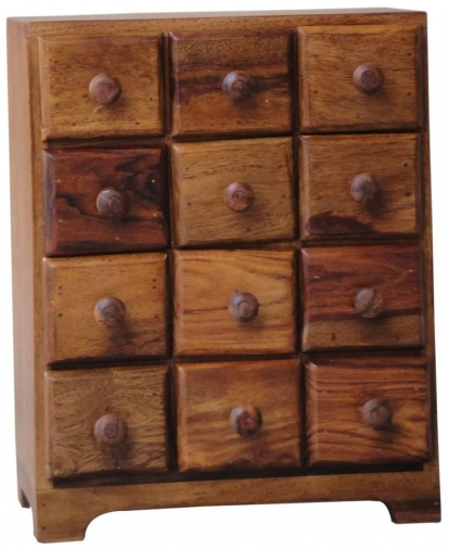 Jaipur furniture ramgarh cabinet small 12 drawers for Kitchen cabinets jaipur