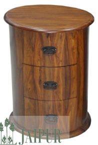 Jaipur Furniture Chest of Drawer - Drum 3 Drawers