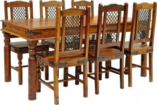 Jaipur Furniture Ganag Dining Set - Large 6 Rawat Chairs
