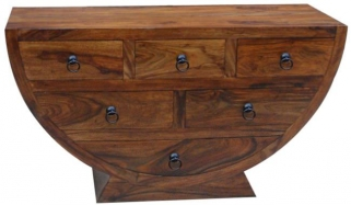 Jaipur Furniture Ganga Chest of Drawer - Half Round Bowl 6 Drawers