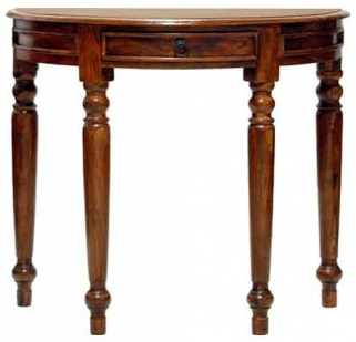 Jaipur Furniture Ganga Console Table - Half Round 1 Drawer