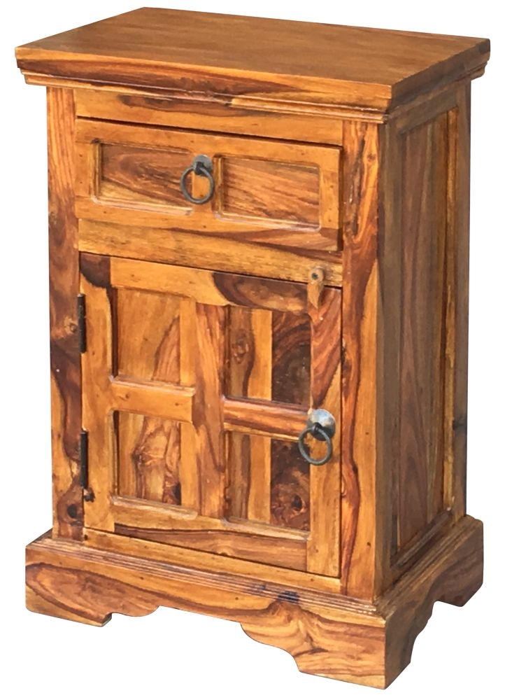 Jaipur Ganga Sheesham Bedside Cabinet - Left