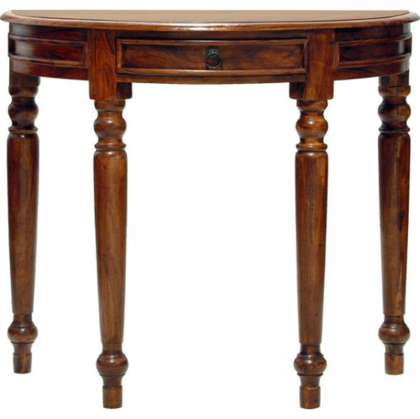 Jaipur Ganga Sheesham Half Round Console Table