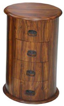 Jaipur Furniture Chest of Drawer - Drum 4 Drawers