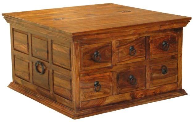 Jaipur Furniture Coffee Table Box 6 Drawers Jaipur Furniture