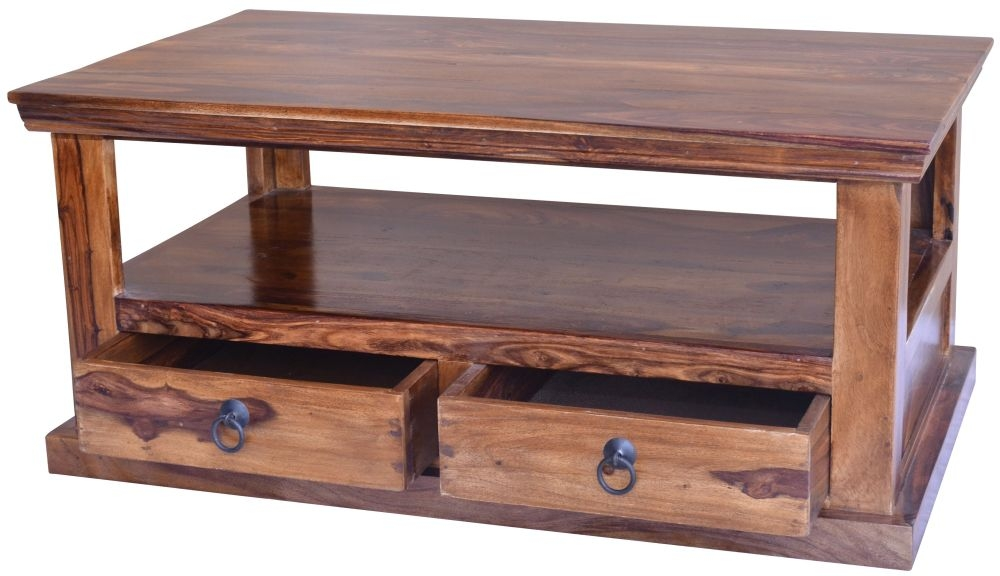 Jaipur Ganga Sheesham Coffee Table - 2 Drawer