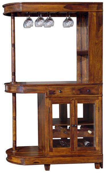 Jaipur furniture nagin bar cabinet long 2 doors 1 drawer for Kitchen cabinets jaipur