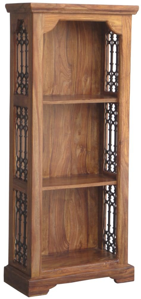 Jaipur Ganga Sheesham Ring Jali Bookcase - Small 2 Shelves