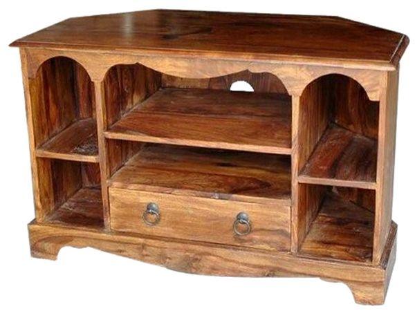 Jaipur Ganga Sheesham 1 Drawer Corner TV Cabinet