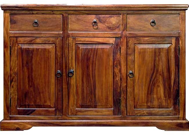 Jaipur Ganga Sheesham 3 Doors 3 Drawer Sideboard