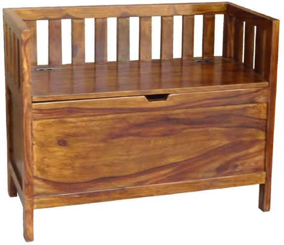 Jaipur Ganga Sheesham Large Storage Bench