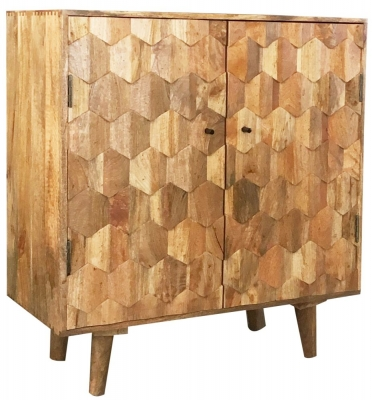 Jaipur Hexagonal Mango Wood Small Sideboard