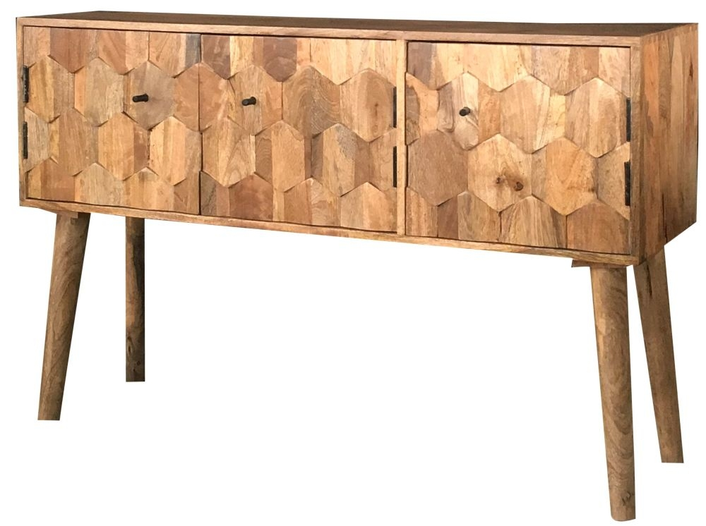 Jaipur Hexagonal Mango Wood Large Sideboard Cfs Furniture Uk