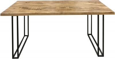 Jaipur Industrial Small Dining Table - Mango Wood and Iron