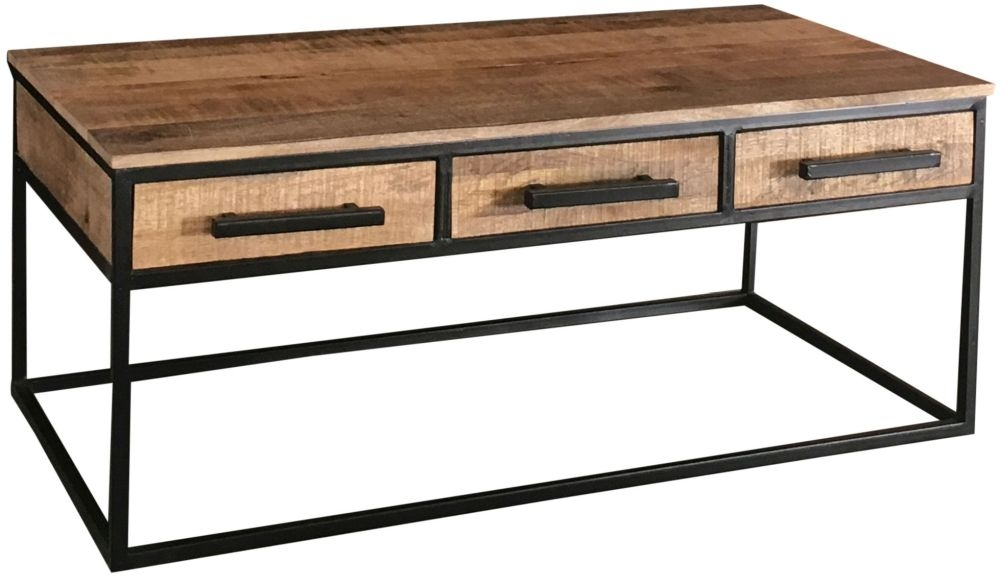 Jaipur Industrial Alster Coffee Table - Mango Wood and Iron