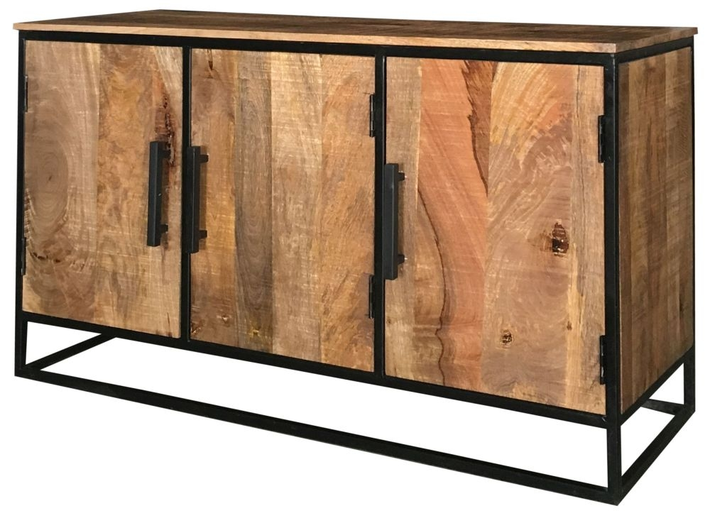 Jaipur Industrial Large Sideboard - Mango Wood and Iron