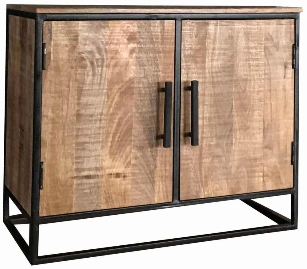 Jaipur Industrial Small Sideboard - Mango Wood and Iron