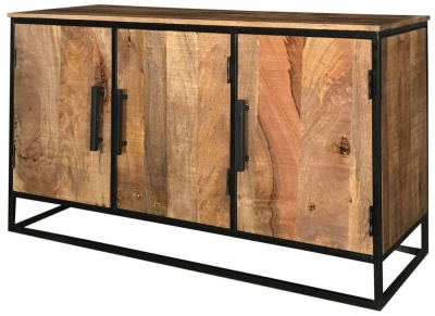Jaipur Industrial Mango Wood and Iron Large Sideboard
