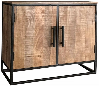 Jaipur Industrial Mango Wood and Iron Small Sideboard
