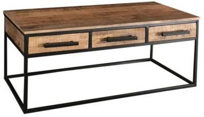 Jaipur Industrial Alster Mango Wood and Iron Coffee Table