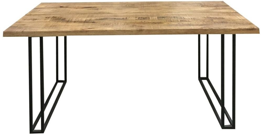 Jaipur Industrial Mango Wood and Iron Large Dining Table
