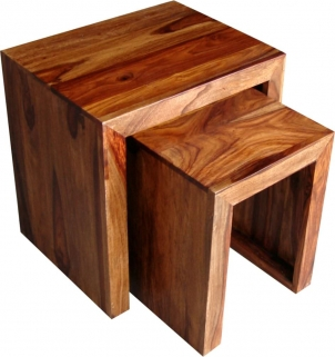 Jaipur Cube Sheesham Nest of 2 Tables