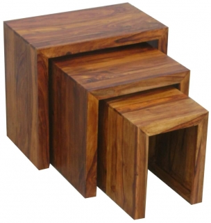 Jaipur Cube Sheesham Nest of Tables