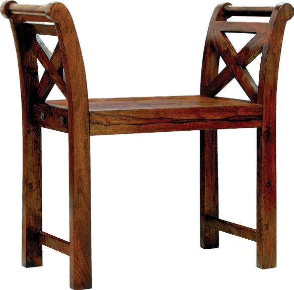 Jaipur Furniture Bench - Solid Seat