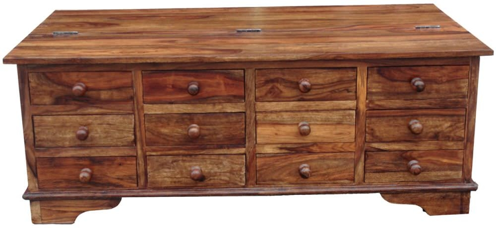 Jaipur Cube Sheesham Coffee Table - 12 Drawer