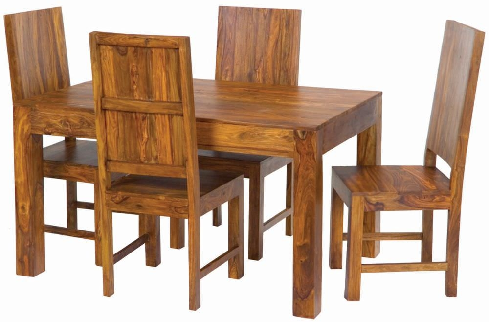 Jaipur Furniture Cube Dining Set - with 4 Cube Chairs