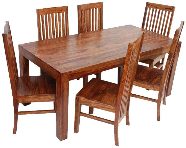 Jaipur Furniture Cube Dining Set - with 6 Long Back Chairs