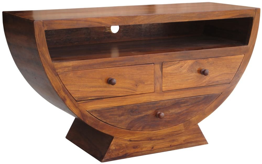 Jaipur Furniture Half Round Bowl 3 Drawers Jaipur Furniture