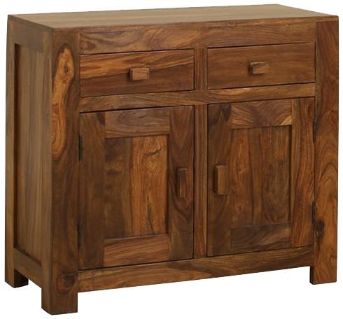 Jaipur Cube Sheesham 2 Door 2 Drawer Sideboard