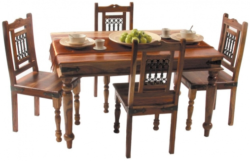 Buy Jaipur Furniture Jali Dining Set Small With 4 Chairs