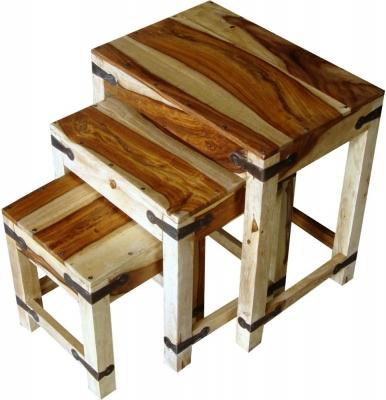 Jaipur Jali Sheesham Nest of 3 Table