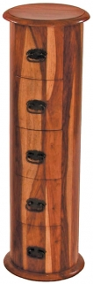 Jaipur Furniture Jali CD Holder - Drum 5 Drawers