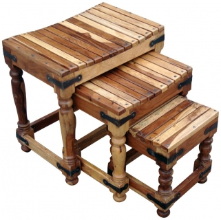 Jaipur Furniture Jali Nest of Tables - Set of 3