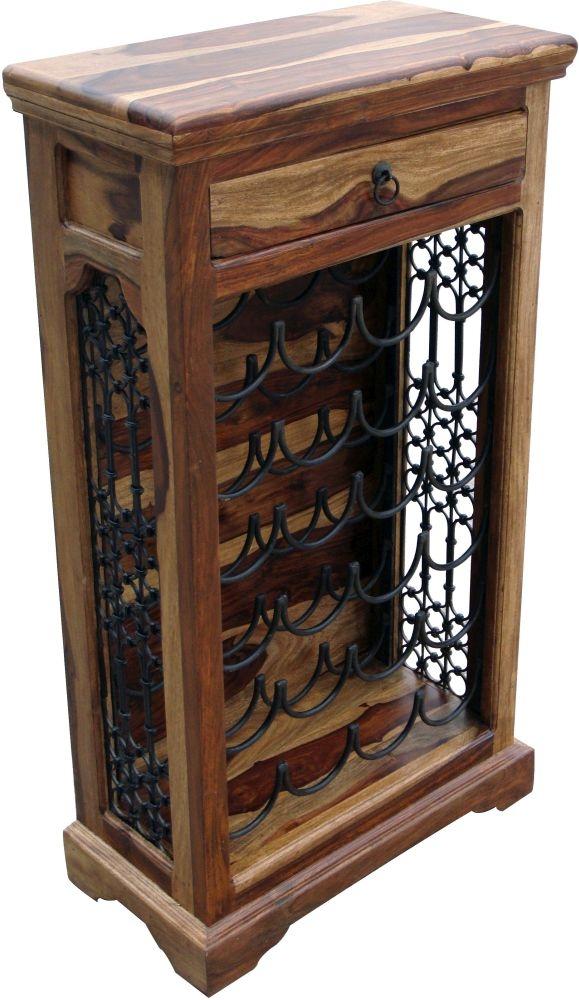 Jaipur Jali Sheesham Wine Cabinet