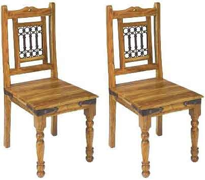 Jaipur Furniture Jali Dining Chair (Pair)