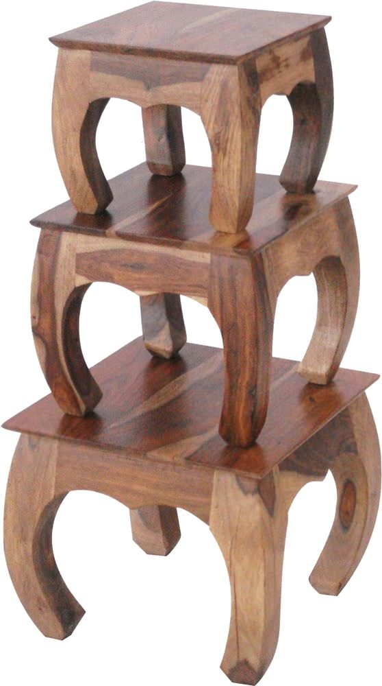 Jaipur Furniture Jali Opium End Tables - Set of 3