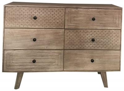 Jaipur Mahi Mango Wood 6 Drawer Chest