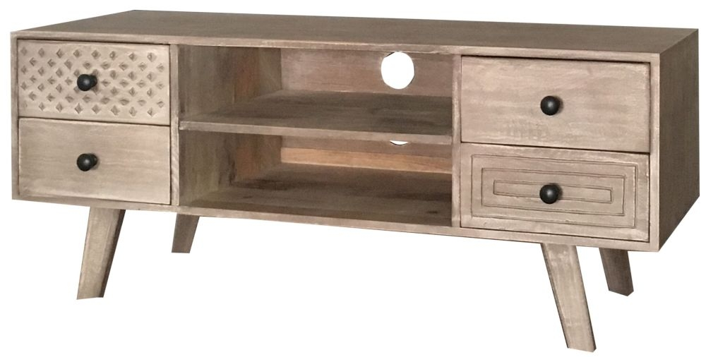 Jaipur Mahi Mango Wood 4 Drawer TV Unit